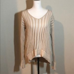 💞 Hi-lo Calvin Klein cable knit sheer sweater